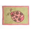 Pam Grace Creations Ladybug Lucy Green/Pink Area Rug