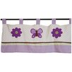 "<strong>Pam Grace Creations</strong> Lavender Butterfly 38"" Curtain Valance"
