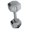 <strong>Cap Barbell</strong> Grey Solid Hex Dumbbell