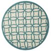 KAS Rugs Kidding Around Teal Kaleidoscope Area Rug