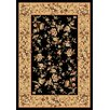 KAS Oriental Rugs Cambridge Black/Beige Floral Delight Rug
