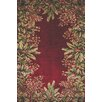 KAS Rugs Emerald Ruby Tropical Border Area Rug