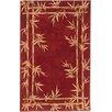 KAS Oriental Rugs Sparta Red Bamboo Border Rug