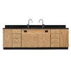 Diversified Woodcrafts Wall Service Bench With Door & 8 Drawers