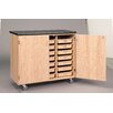 <strong>Mobile Tote Tray Storage Cabinet</strong> by Diversified Woodcrafts