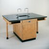<strong>4 Student Double Faced Workstation With Cupboard</strong> by Diversified Woodcrafts