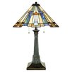 "<strong>Quoizel</strong> Inglenook Tiffany 25"" H Table Lamp with Empire Shade"