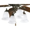 Progress Lighting Renovations Four Light Branched Ceiling Fan Light Kit