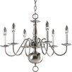 <strong>Progress Lighting</strong> Americana 6 Light Candle Chandelier