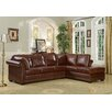 <strong>Leather Italia U.S.A.</strong> Hathaway Leather Sectional