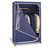 <strong>OIA</strong> Deluxe Storage Wardrobe in Navy with White Trim