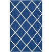 Safavieh Dhurries Dark Blue Rug