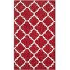 Safavieh Dhurries Red/Ivory Rug