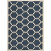 Safavieh Courtyard Navy / Beige Indoor/Outdoor Rug