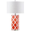 "Safavieh Garden Lattice 27"" H Table Lamp with Drum Shade (Set of 2)"