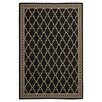 Safavieh Courtyard Black/Sand Checked Area Rug