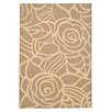 <strong>Safavieh</strong> Courtyard Coffee/Sand Floral Outdoor Rug
