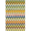 <strong>Cedar Brook Blue / Orange Striped Contemporary Rug</strong> by Safavieh