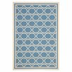 <strong>Safavieh</strong> Courtyard Blue / Beige Outdoor Rug