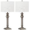 "Safavieh Argos Column 28.25"" H Table Lamp with Drum shade (Set of 2)"