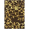 Safavieh Soho Brown Leaves Area Rug
