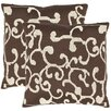 <strong>Safavieh</strong> Luca Polyester Decorative Pillow (Set of 2)