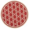 <strong>Safavieh</strong> Courtyard Red/Bone Indoor/Outdoor Rug