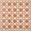 Safavieh Dhurries Tan/Ivory Area Rug
