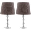"""<strong>Safavieh</strong> Dylan Tiered Orb 15"""" H Table Lamp with Empire Shade (Set of 2)"""