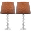 """<strong>Safavieh</strong> Nola Stacked Ball 16"""" H Table Lamp with Empire Shade (Set of 2)"""