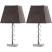 "Safavieh Avalon Deco 17.25"" H Table Lamp with Square Shade (Set of 2)"