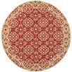 Safavieh Courtyard Red/Crème Border Outdoor Rug