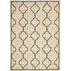 Safavieh Courtyard Beige & Black Outdoor Area Rug