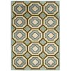 <strong>Safavieh</strong> Hampton Light Blue / Ivory Outdoor Rug