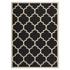Safavieh Courtyard Black / Beige Area Rug II