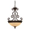 <strong>Ladoga 2 Light Bowl Inverted Pendant</strong> by Wildon Home ®