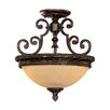 <strong>Ladoga 2 Light Semi Flush Mount</strong> by Wildon Home ®