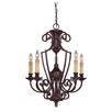 <strong>Ladoga 5 Light Chandelier without Glass</strong> by Savoy House