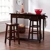 Wildon Home ® Sherwood 3 Piece Breakfast Table Set in Espresso