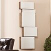 <strong>Wildon Home ®</strong> Toulouse Mirrored Wall Mount Storage Box (Set of 5)