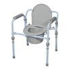<strong>Folding Bedside Commode with Bucket and Splash Guard</strong> by Drive Medical