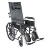 Drive Medical Sport Reclining Wheelchair with Elevating Leg Rests