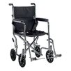 Drive Medical Go Cart Light Weight Steel Transport Wheelchair with Swing Away Footrest