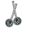 """Drive Medical 5"""" Walker Wheels with Two Sets of Rear Glides for Use with Universal Walker"""