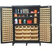 "<strong>84"" H x 60"" W x 24"" D Super Wide Heavy Duty Storage Cabinet</strong> by Quantum Storage"