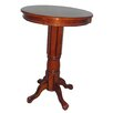 Florence Pedestal Pub Table in Brandy