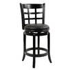 "24"" Kyoto Swivel Stool in Black"