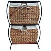 <strong>Pangaea Home and Garden</strong> Seagrass Pangaea Rattan 2 Drawer Basket Storage File Cabinet
