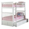 Atlantic Furniture Columbia Twin Bunk Bed with Trundle