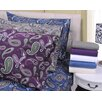 <strong>Simple Luxury</strong> Paisley and Solid Flannel Cotton Pillowcase (Set of 2)